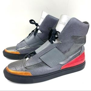 Raf Simons Sterling Ruby Strapped High Top Sneaker